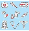 medicine set vector image vector image