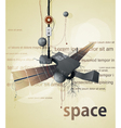 abstract space station satellite vector image