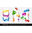 paper tags collection vector image vector image