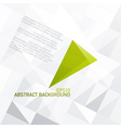 green abstract triangle symbol on light gray vector image vector image