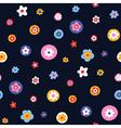 pattern floral simple big vector image