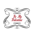 Be My Valentine frame vector image