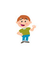 cartoon character boy in approval attitude vector image