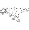 Cartoon tyrannosaurus dinosaur for coloring book vector image