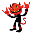 heavy metal devil vector image