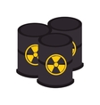 nuclear energy isolated icon vector image