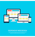 Responsive Web Design Gadgets Flat Concept vector image