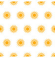 seamless pattern with suns vector image