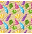 Seamless seashell background vector image