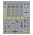 sound dj mixer vector image