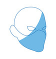 superhero man face male with the mask vector image