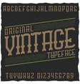 vintage label font with sample label design vector image