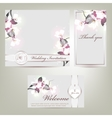 Wedding invitation with floral vector image