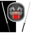 fantasy shield and swordsseventh variant vector image vector image