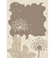 Vintage background with dandelions vector image vector image