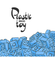 Elements of plastic constructor vector image vector image