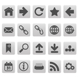 Web icons on gray squares vector image