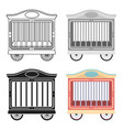 circus wagon icon in cartoon style isolated on vector image