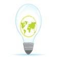 save world bulb vector image vector image