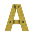 wood letter A vector image