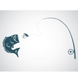 Fly fishing vector image