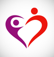 heart love couple logo vector image