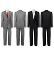 Set of black and grey suits vector image vector image