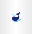 blue whale icon sign vector image