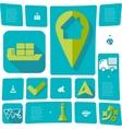 navigation flat infographic vector image