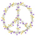 Flower power peace symbol vector image