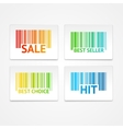barcode sale labels vector image