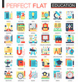 education complex flat icon concept symbols vector image