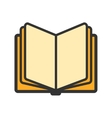 Education open book icon vector image