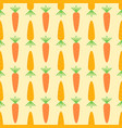flat design carrot seamless pattern background vector image