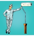 house painter with paint rollers vector image