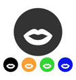 kiss smiley icon vector image