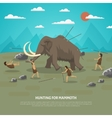 Mammoth Hunting vector image