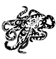 octopus for coloring or tattoo vector image