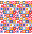 pattern floral simple color vector image