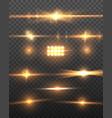 realistic camera lens flare set vector image