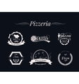 Set of Pizza logos badges and labels Pizzeria vector image