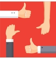 Thumbs Up and Thumbs Down cartoon vector image