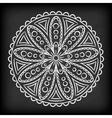 Doodle Mandala Flower vector image