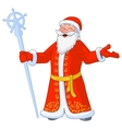 russian jolly Ded Moroz vector image