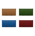 cargo container 101 vector image vector image