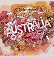 australia hand lettering and doodles elements vector image