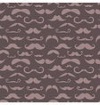 Retro hipster moustache seamless pattern vector image