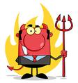 Devil bank man cartoon vector image vector image
