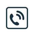 call icon Rounded squares button vector image