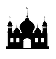Silhouette of mosque vector image